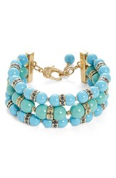 Women's St. John Collection Glass Pearl And Swarovski Crystal Bracelet