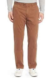 Brax 'Evans' Flat Front Chinos Brown