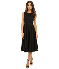 Ted Baker Lyxa Cut Out Full Skirt Midi Dress Black Women's Dress