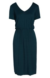 Charles Henry Bloused Knit Dress Pine
