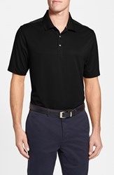 Men's Big And Tall Cutter And Buck 'Glendale' Drytec Moisture Wicking Polo Black
