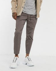 Topman Tapered Chinos In Tan