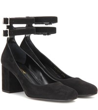 Saint Laurent Babies 70 Suede Pumps Black