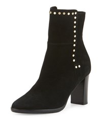 Jimmy Choo Harlow Studded Suede Bootie Black