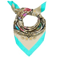 Madison Knight Teal Siena Silk Scarf