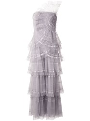 Tadashi Shoji Off The Shoulder Tiered Tulle Gown 60