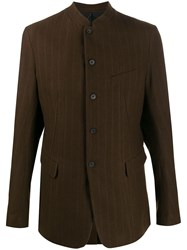 Masnada Single Breasted Fitted Blazer Brown