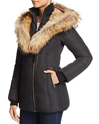 Mackage Akiva Fur Trim Short Down Jacket Black