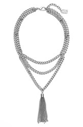 Women's Karine Sultan Layered Y Necklace Silver