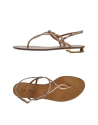 Rose Thong Sandals Beige