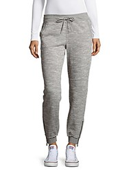 Calvin Klein Heathered Cropped Jogger Pants Stone