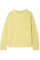 Sea Nora Oversized Ribbed Knit Sweater Bright Yellow