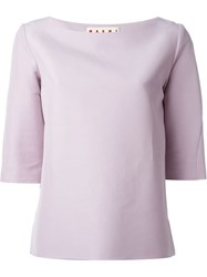 Marni Three Quarter Length Sleeve Top Pink And Purple