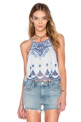 Somedays Lovin Azul Cutwork Top Blue