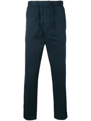 Officine Generale Drawstring Trousers Blue