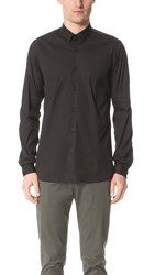 The Kooples Stretch Poplin Shirt Black