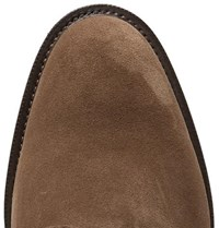 Edward Green Windermere Suede Derby Shoes Taupe