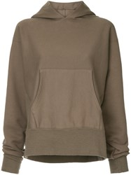 Cityshop Classic Long Sleeve Hoodie Brown
