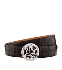 Zilli Crocodile Skin Belt Black