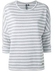 Woolrich Striped Jumper Women Cotton S Grey