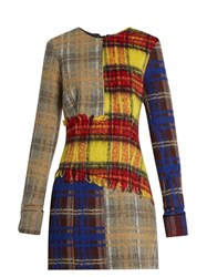 Acne Studios Ebele Patchwork Wool Blend Dress Multi