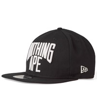 A Bathing Ape New Era Nyc Logo Snapback Cap Black