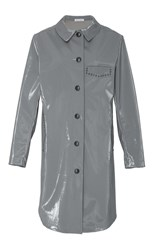 Tomas Maier Embellished Button Down Coat Grey