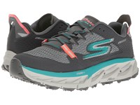 Skechers Go Trail Ultra 4 Charcoal Teal Women's Running Shoes Gray