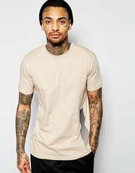 Criminal Damage Watercolour T Shirt Nude Beige