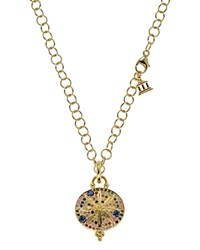 Temple St. Clair 18K Yellow Gold Sorcerer Pendant With Mixed Sapphires Gold Blue