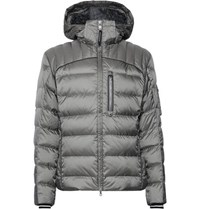 Bogner Alan D Slim Fit Quilted Ripstop Hooded Down Jacket Gray