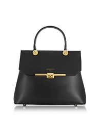Le Parmentier Atlanta Top Handle Satchel Bag Black