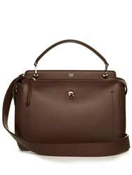 Fendi Dotcom Leather Bag Brown