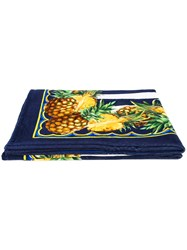 Dolce And Gabbana Pineapple Beach Scarf Women Cotton One Size