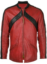 Fake Alpha Vintage 1960S Bates Motorcycle Racing Jacket Red