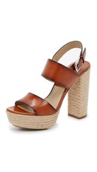 Michael Kors Summer Platform Sandals Luggage