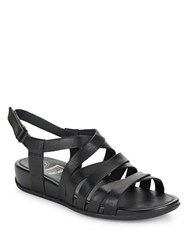 Fitflop Lumy Leather Wedge Sandals Black