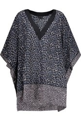 Proenza Schouler Printed Cotton And Silk Blend Kaftan Storm Blue