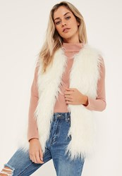 Missguided Cream Faux Fur Gilet