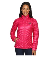 The North Face Thermoball Full Zip Jacket Cerise Pink Darkest Spruce Women's Coat