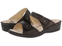 Finn Comfort Catalina 2538 Cigar Luxory Leather Soft Footbed Women's Slide Shoes Brown