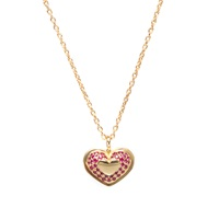 Isabelle Rowe Street Magic Heart Necklace Ruby Gold