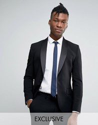 Only And Sons Super Skinny Tuxedo Suit Jacket Black