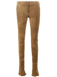Isaac Sellam Experience Stretch Skinny Leather Trousers Green