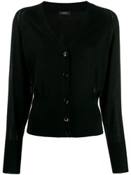 Joseph Long Sleeve Knit Cardigan Black
