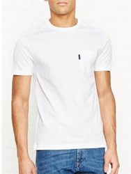 Aquascutum London Cullen Plain T Shirt Chalk White