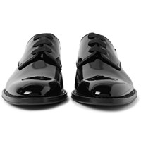 Givenchy Patent Leather Derby Shoes Black