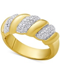 Macy's Diamond San Marco Ring 1 4 Ct. T.W. In Sterling Silver 18K Gold Plated Sterling Silver Or 18K Rose Gold Plated Sterling Silver