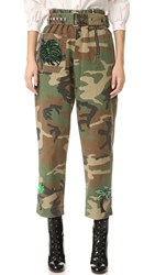 Marc Jacobs Camo Belted Pants Multi