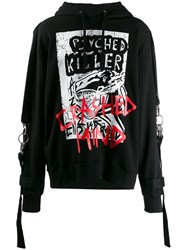 Faith Connexion Oversized 'Psyched Killer' Hoodie Black
